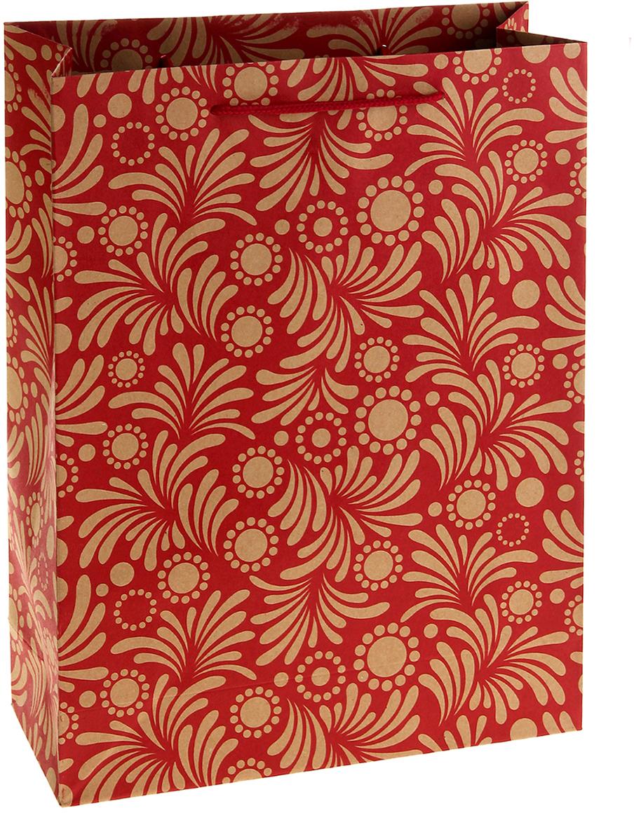 Пакет подарочный Перо, цвет: красный, 19 х 8 х 25 см. 852518852518Любой подарок начинается с упаковки. Что может быть трогательнее и волшебнее, чем ритуал разворачивания полученного презента. И именно оригинальная, со вкусом выбранная упаковка выделит ваш подарок из массы других. Она продемонстрирует самые теплые чувства к виновнику торжества и создаст сказочную атмосферу праздника. Пакет-крафт Перо - это то, что вы искали.