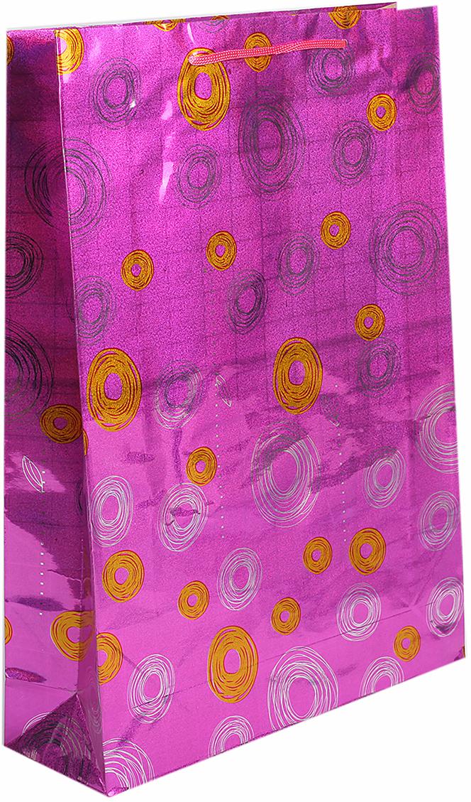 Пакет подарочный Круги, голографический, цвет: розовый, 10 х 32,5 х 45 см. 853915853915Любой подарок начинается с упаковки. Что может быть трогательнее и волшебнее, чем ритуал разворачивания полученного презента. И именно оригинальная, со вкусом выбранная упаковка выделит ваш подарок из массы других. Она продемонстрирует самые теплые чувства к виновнику торжества и создаст сказочную атмосферу праздника. Пакет голографический Круги - это то, что вы искали.