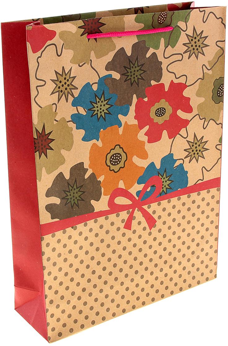 Пакет подарочный Милый бантик, цвет: мультиколор, 24 х 8 х 33 см. 893480893480Любой подарок начинается с упаковки. Что может быть трогательнее и волшебнее, чем ритуал разворачивания полученного презента. И именно оригинальная, со вкусом выбранная упаковка выделит ваш подарок из массы других. Она продемонстрирует самые теплые чувства к виновнику торжества и создаст сказочную атмосферу праздника. Пакет-крафт Милый бантик - это то, что вы искали.