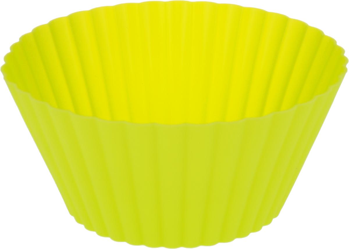 Форма для выпечки Доляна Круг. Риб, цвет: салатовый, 15 см811941_салатовыйФорма для выпечки из силикона - современное решение для практичных и радушных хозяек.Оригинальный предмет позволяет готовить в духовке любимые блюда, а также вкуснейшуювыпечку.Особенности:- блюдо сохраняет нужную форму и легко отделяется от стенок после приготовления;- высокая термостойкость (от -40°С до +230°С) позволяет применять форму в духовых шкафах иморозильных камерах; - небольшая масса делает эксплуатацию предмета простой даже для хрупкой женщины; - силикон пригоден для посудомоечных машин; - высокопрочный материал делает форму долговечным инструментом; - при хранении предмет занимает мало места. Перед первым применением промойте предмет теплой водой. В процессе приготовленияиспользуйте кухонный инструмент из дерева, пластика или силикона. Перед извлечением блюдаиз силиконовой формы дайте ему немного остыть, осторожно отогните края предмета.Каквыбрать форму для выпечки - статья на OZON Гид.