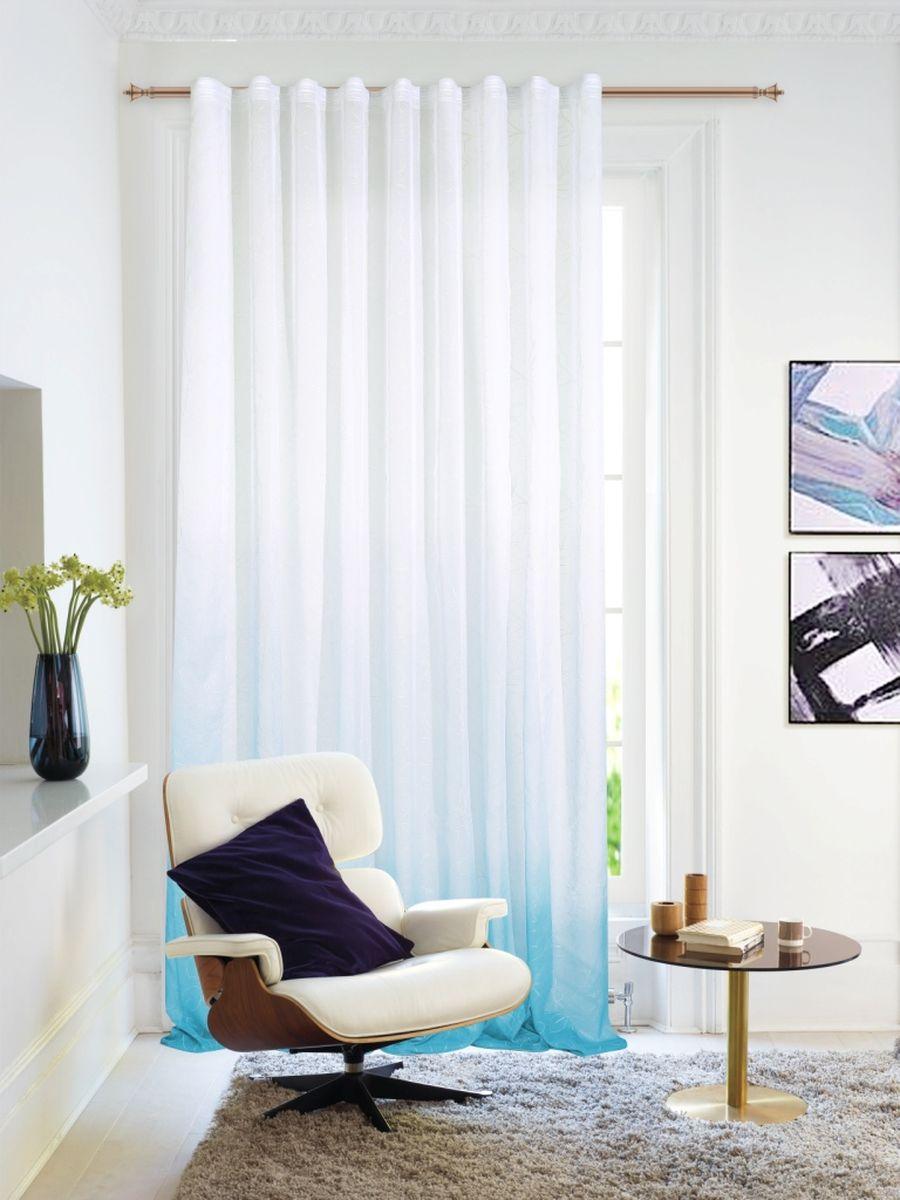 Тюль Garden, на ленте, цвет: бирюзовый, высота 260 см. С 1287 - W2529 V57