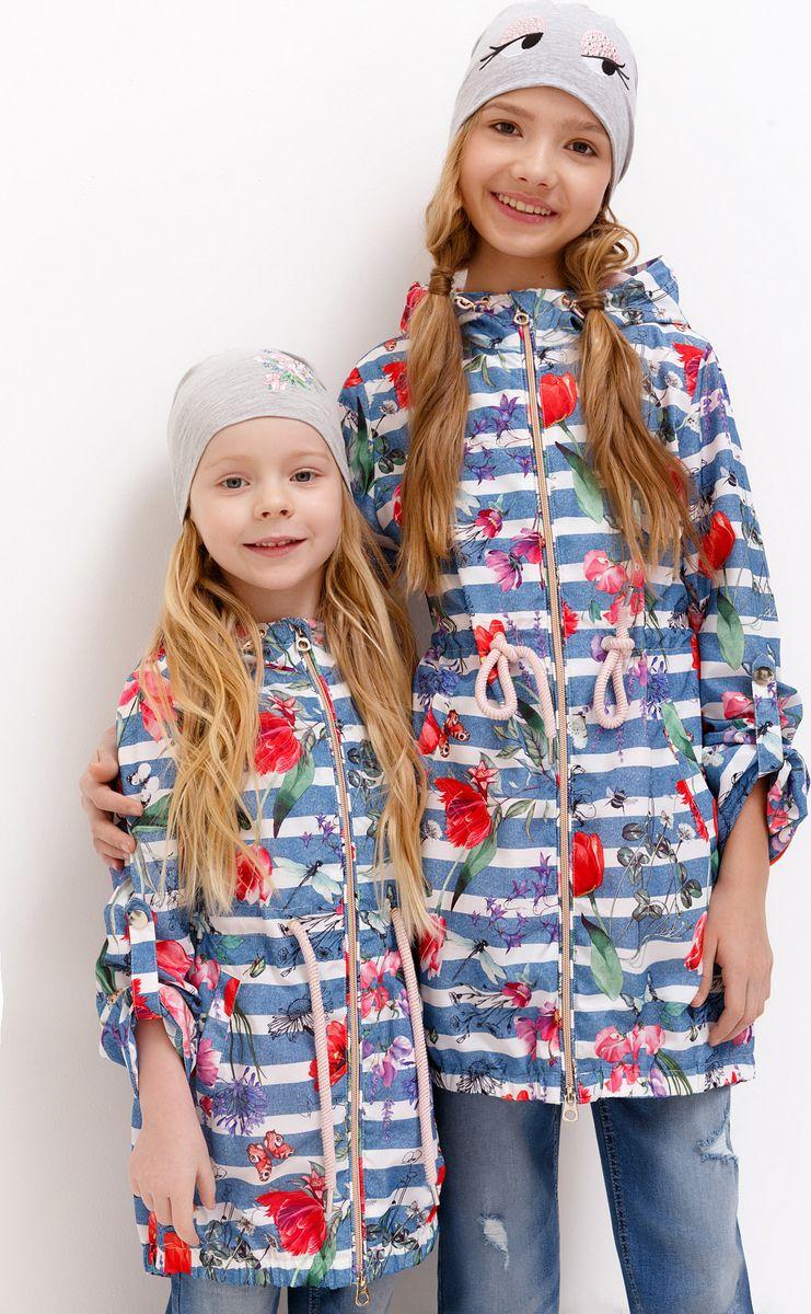 Плащ для девочки Acoola, цвет: голубой. 20210630011_8000. Размер 158 джемперы acoola джемпер для девочек в полоску из люрекса цвет ассорти размер 158 20210100174