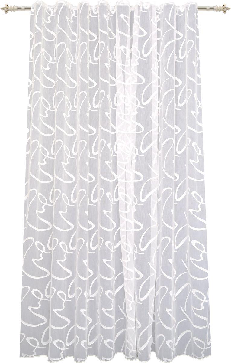 Тюль Garden, на ленте, цвет: слоновая кость, высота 260 см. С 2325 - W2277 V11