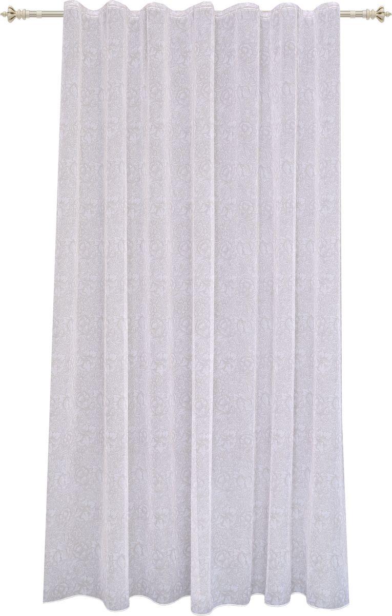 Тюль Garden, на ленте, цвет: светло-серый, высота 260 см. С 2360 - W628 V2