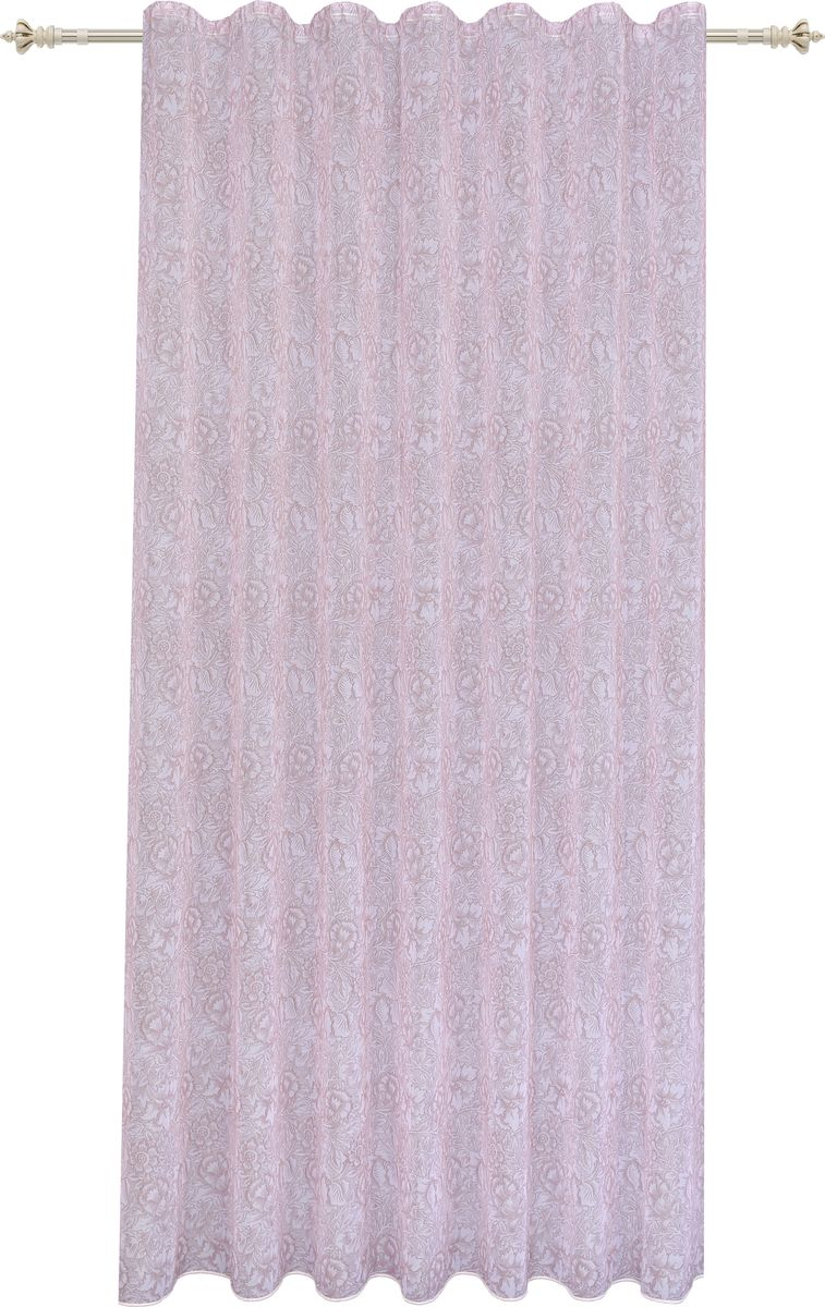 Штора Garden, на ленте, цвет: светло-розовый, высота 260 см. С 2360 - W628 V5С 2360 - W628 V5Изящная штора для гостиной Garden, выполнена из легкой ткани с оригинальным узором. Приятная текстура и цвет штор привлекут к себе внимание и органично впишутся в интерьер помещения. Штора крепится на карниз при помощи ленты, которая поможет красиво и равномерно задрапировать верх.
