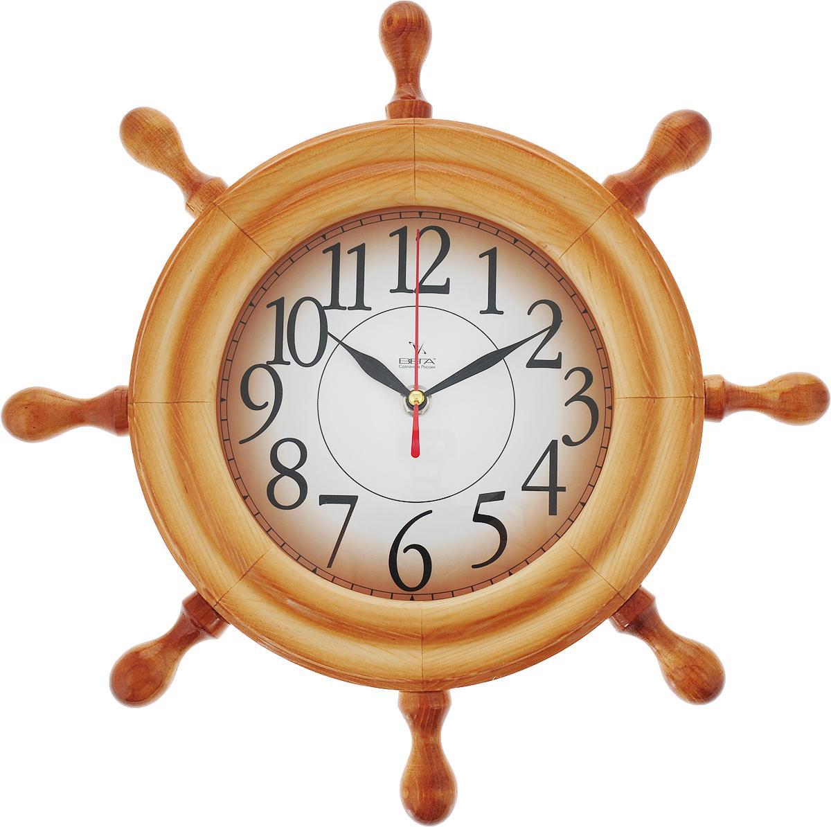 Часы настенные Вега Штурвал. Арабская классикаД7НД-1