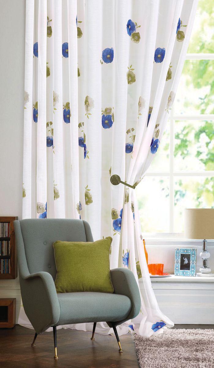 Изящная штора Garden выполнена из ткани батист. Приятная текстура и цвет штор привлекут к себе внимание и органично впишутся в интерьер помещения. Штора крепится на карниз при помощи шторной ленты, которая поможет красиво и равномерно задрапировать верх.