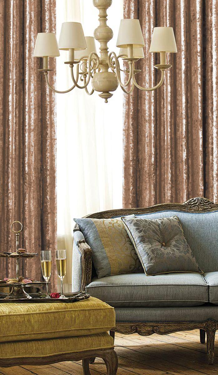 """Изящная штора для гостиной """"Garden"""" выполнена из плотной ткани бархат. Приятная текстура и цвет, привлекут к себе внимание и органично впишутся в интерьер помещения. Штора крепится на карниз при помощи ленты, которая поможет красиво и равномерно задрапировать верх."""