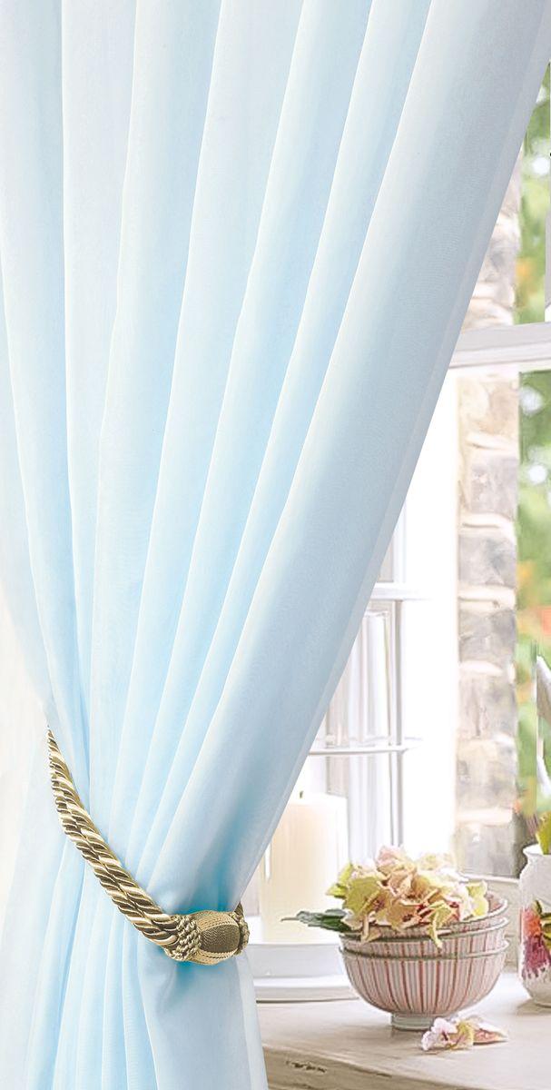 Тюль Garden, на ленте, цвет: бирюзовый, высота 300 см. С W191 300*260 V73101