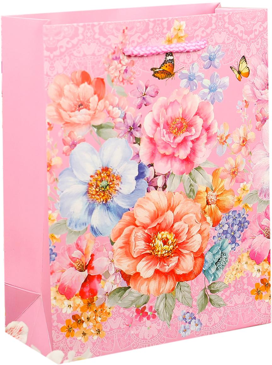 Пакет подарочный Люкс. Праздничный букет, цвет: розовый, 18 х 23 х 8 см. 27484252748425Любой подарок начинается с упаковки. Что может быть трогательнее и волшебнее, чем ритуал разворачивания полученного презента. И именно оригинальная, со вкусом выбранная упаковка выделит ваш подарок из массы других. Она продемонстрирует самые теплые чувства к виновнику торжества и создаст сказочную атмосферу праздника. Пакет подарочный Праздничный букет - это то, что вы искали.