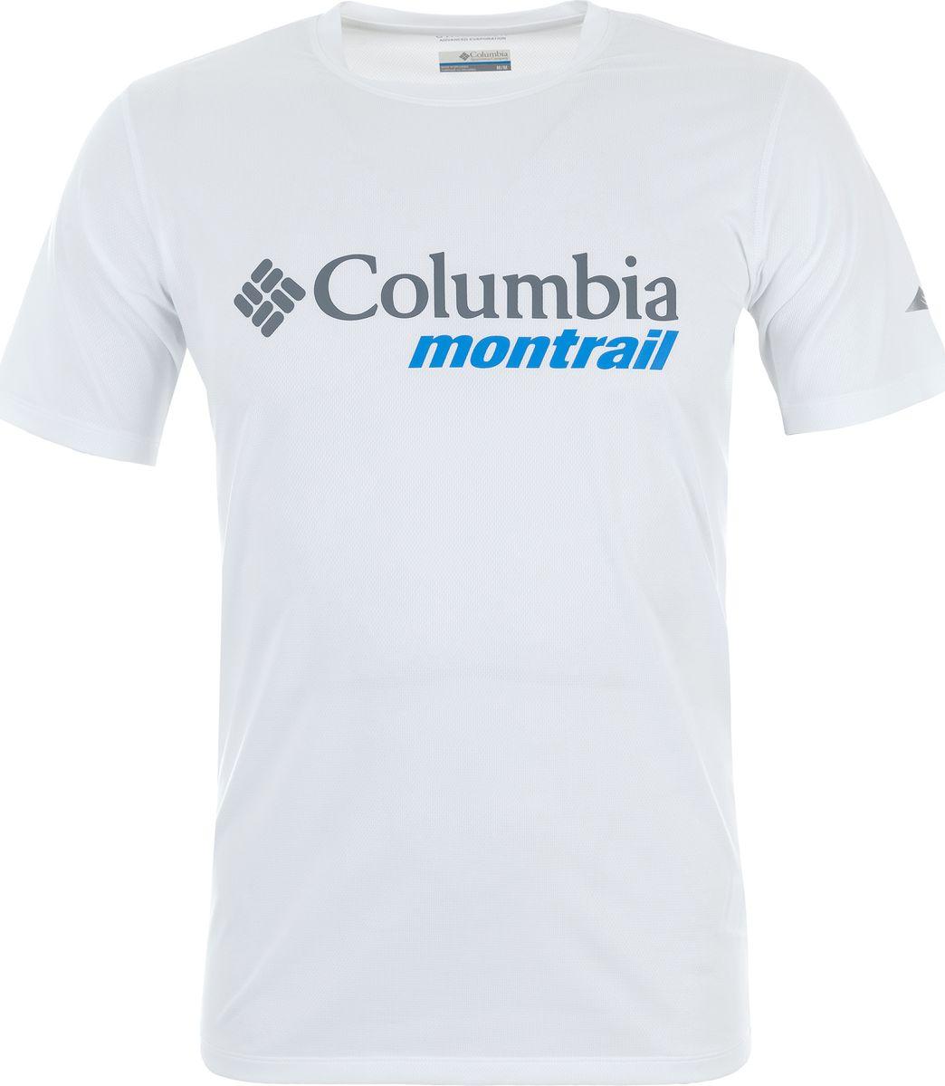 Купить Футболка мужская Columbia Trinity Trail Tee, цвет: белый. 1759211-102. Размер S (44/46)