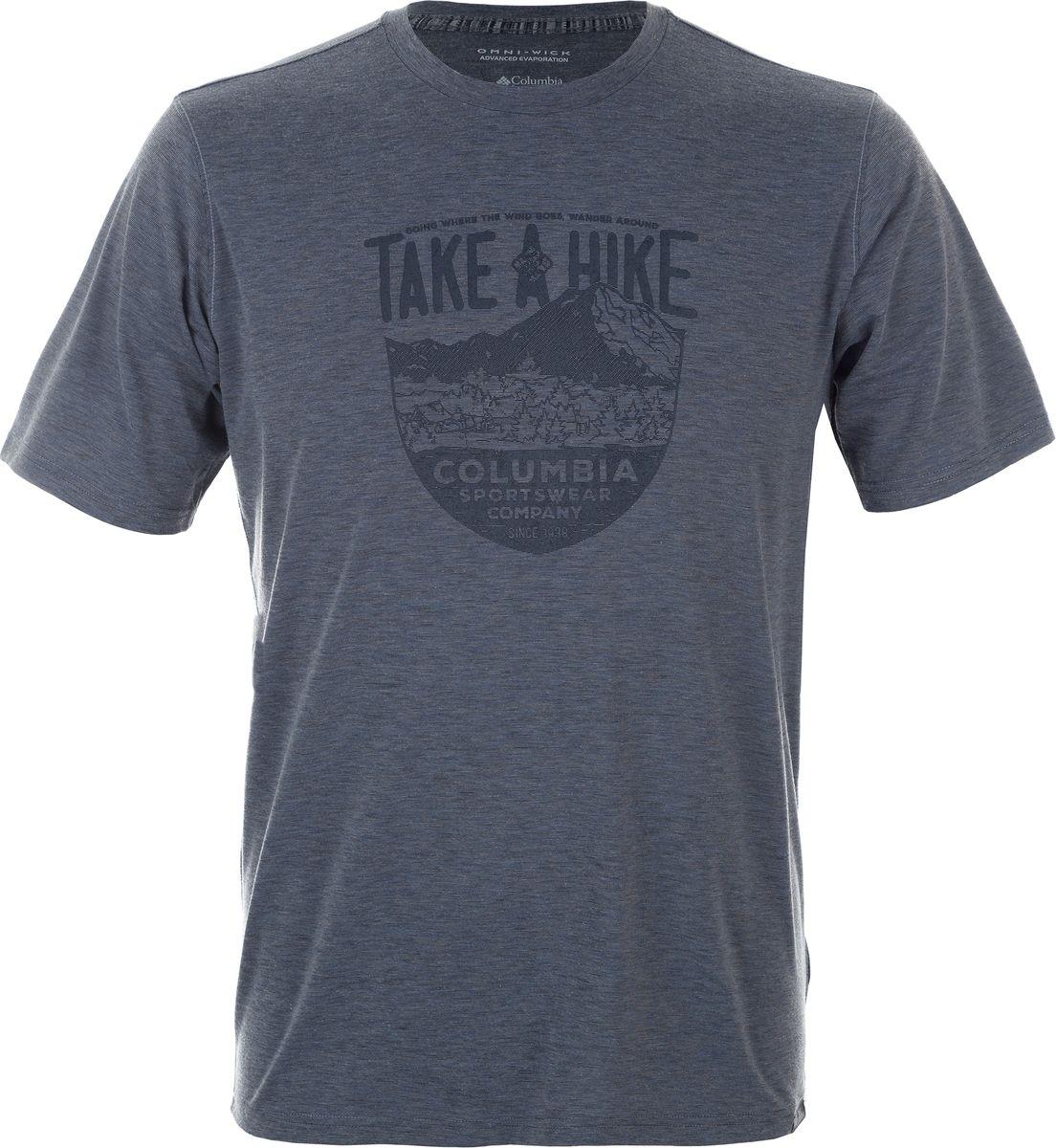 Футболка мужская Columbia Trail Shaker II SS Shirt, цвет: серый. 1778822-021. Размер M (46/48) columbia кроссовки женские columbia mojave trail ii outdry