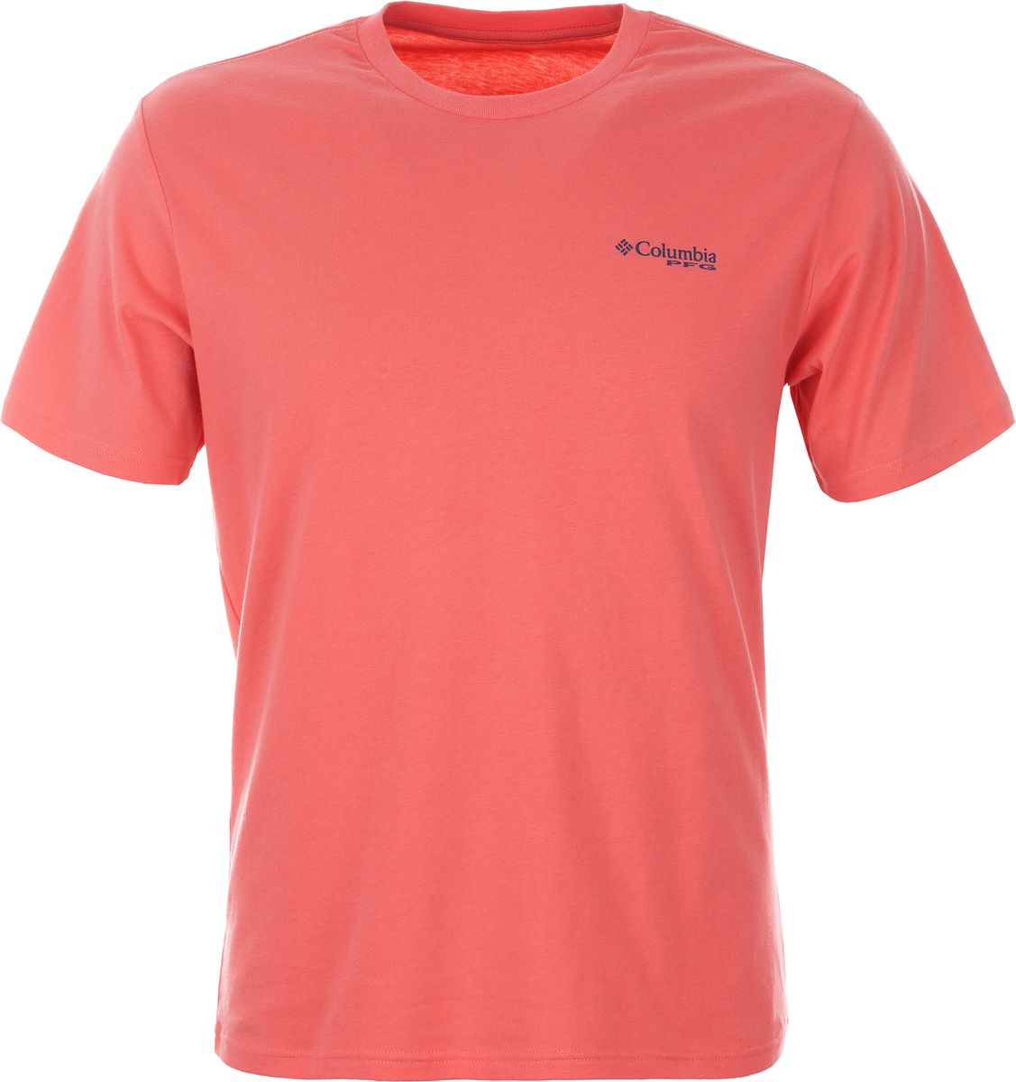 Футболка мужская Columbia PFG Triangle SS, цвет: розовый. 1717211-699. Размер XXL (56/58) быстросохнущая футболка columbia 0010 pfg heads and tails