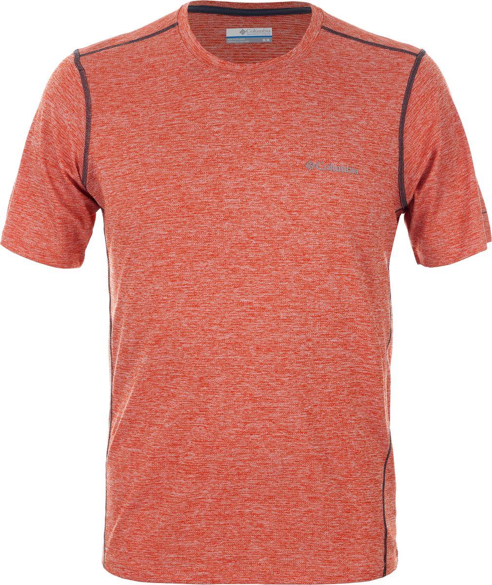 Футболка мужская Columbia Deschutes Runner SS Shirt, цвет: оранжевый. 1711781-805. Размер XXL (56/58) рубашка мужская columbia silver ridge lite ss shirt цвет синий 1654311 469 размер xxl 56 58
