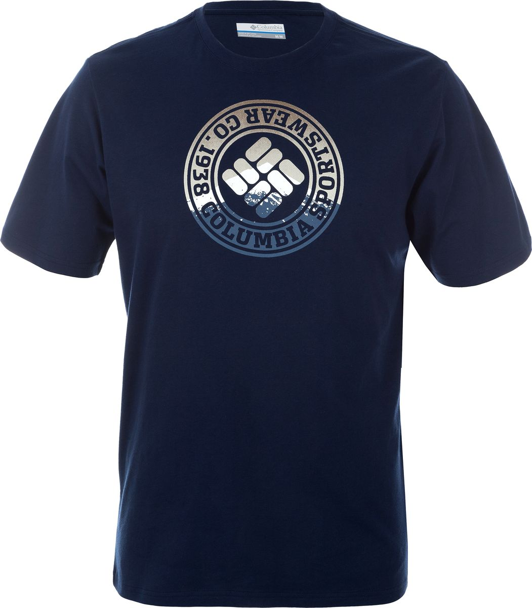 Футболка мужская Columbia CSC Tried and True SS Tee, цвет: темно-синий. 1546551-464. Размер XXL (56/58)