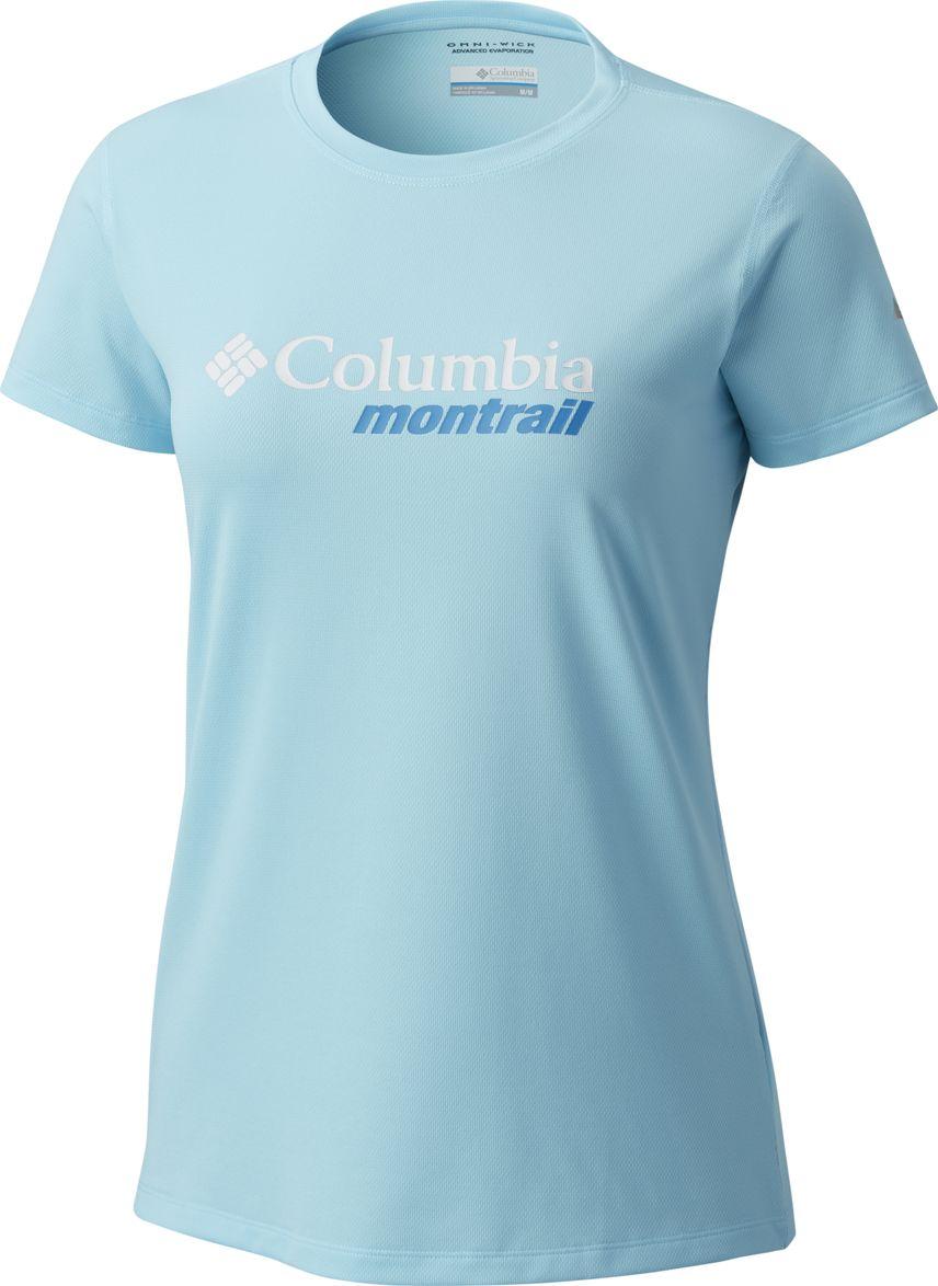 Футболка женская Columbia Trinity Trail W, цвет: голубой. 1774461-451. Размер L (48)1774461-451Женская футболка c O-образным вырезом прекрасно подойдет как активного отдыха и походов, запланированных на летний период.Такая модель отлично подойдет для активного отдыха и послужитзамечательным дополнением к вашему гардеробу.