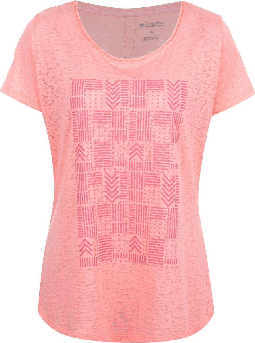 цена на Футболка женская Columbia Elevated II Tee, цвет: розовый. 1772251-818. Размер XS (42)