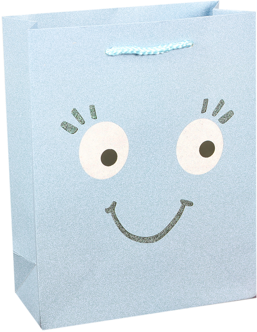 Пакет подарочный Люкс. Смайлики, цвет: голубой, 26 х 32 х 10 см. 27484422748442Любой подарок начинается с упаковки. Что может быть трогательнее и волшебнее, чем ритуал разворачивания полученного презента. И именно оригинальная, со вкусом выбранная упаковка выделит ваш подарок из массы других. Она продемонстрирует самые теплые чувства к виновнику торжества и создаст сказочную атмосферу праздника. Пакет подарочный Смайлики - это то, что вы искали.