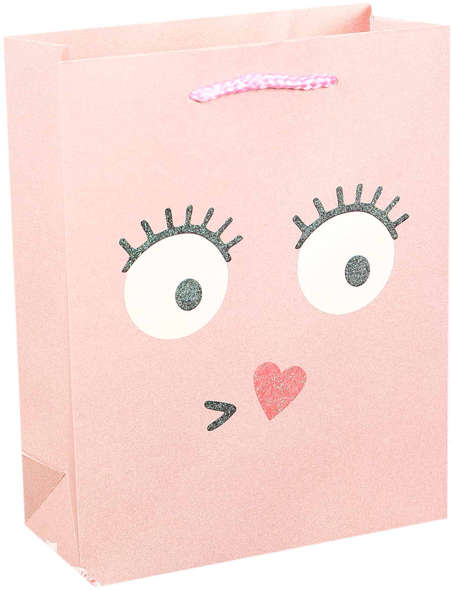 Пакет подарочный Люкс. Смайлики, цвет: розовый, 26 х 32 х 10 см. 27484422748442Любой подарок начинается с упаковки. Что может быть трогательнее и волшебнее, чем ритуал разворачивания полученного презента. И именно оригинальная, со вкусом выбранная упаковка выделит ваш подарок из массы других. Она продемонстрирует самые теплые чувства к виновнику торжества и создаст сказочную атмосферу праздника. Пакет подарочный Смайлики - это то, что вы искали.