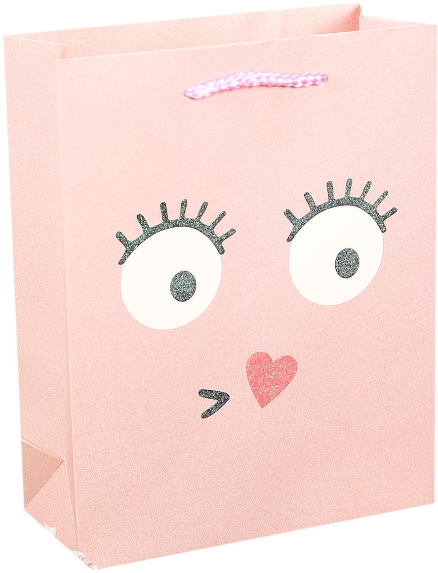 Пакет подарочный Люкс. Смайлики, цвет: розовый, 31 х 42 х 12 см. 27484582748458Любой подарок начинается с упаковки. Что может быть трогательнее и волшебнее, чем ритуал разворачивания полученного презента. И именно оригинальная, со вкусом выбранная упаковка выделит ваш подарок из массы других. Она продемонстрирует самые теплые чувства к виновнику торжества и создаст сказочную атмосферу праздника. Пакет подарочный Смайлики - это то, что вы искали.