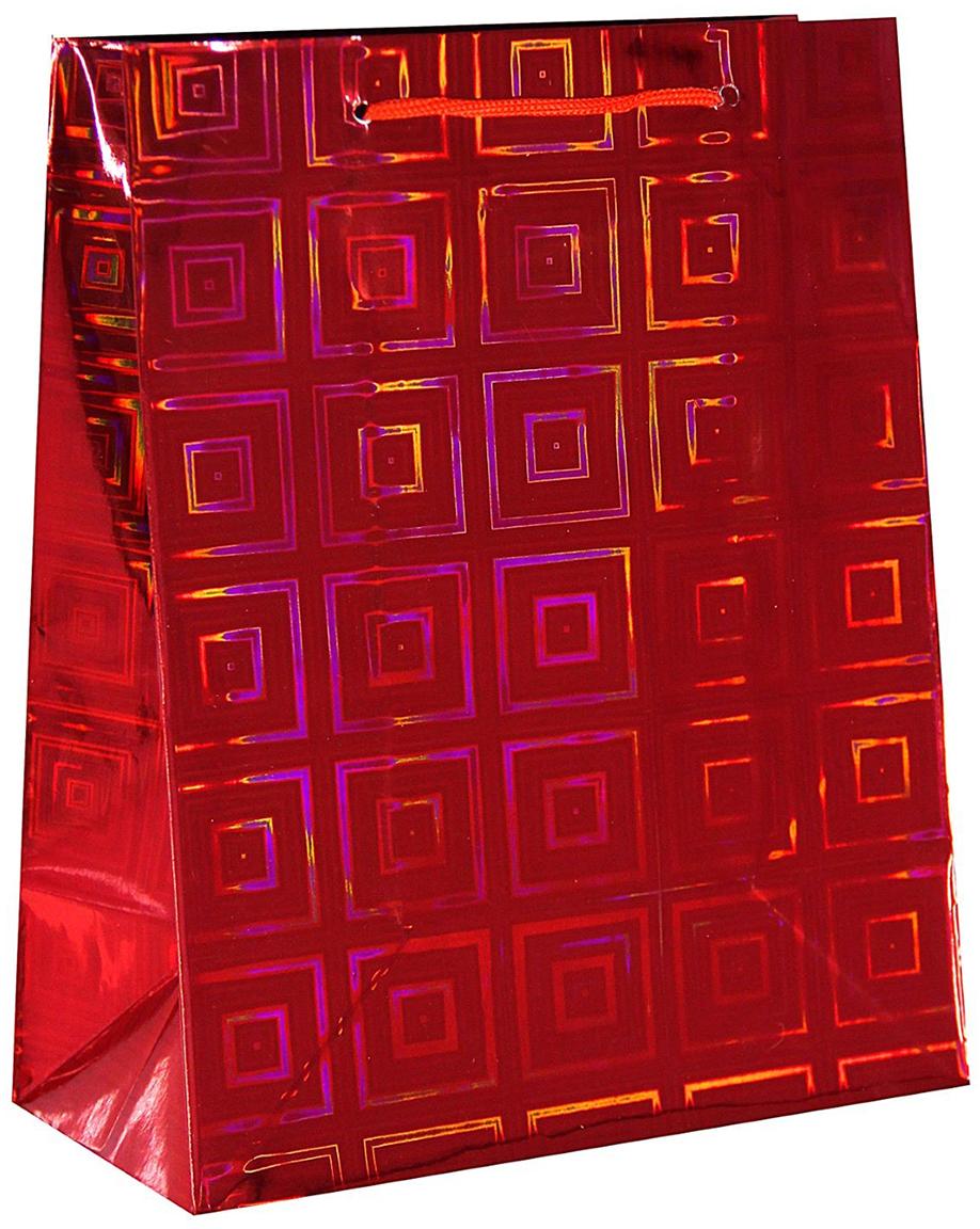 Пакет подарочный Рисунок. Квадрат, голографический, цвет: красный, 18 х 23 х 10 см. 18858781885878Любой подарок начинается с упаковки. Что может быть трогательнее и волшебнее, чем ритуал разворачивания полученного презента. И именно оригинальная, со вкусом выбранная упаковка выделит ваш подарок из массы других. Она продемонстрирует самые теплые чувства к виновнику торжества и создаст сказочную атмосферу праздника. Пакет голографический - это то, что вы искали.