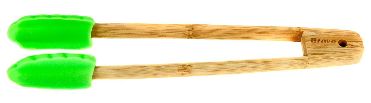 Щипцы, выполненные из силикона и бамбука, предназначены для комфортных манипуляций с приготавливаемым продуктом. Такими щипцами удобно переворачивать мясо, тефтели, колбаски, рулеты и другие продукты во время приготовления.