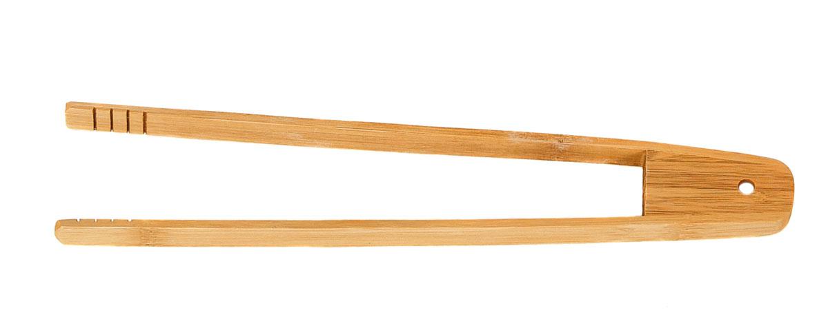 Щипцы кухонные Bravo, длина 30 см370Щипцы, выполненные из бамбука, предназначены для комфортных манипуляций с приготавливаемым продуктом. Такими щипцами удобно переворачивать мясо, тефтели, колбаски, рулеты и другие продукты во время приготовления.