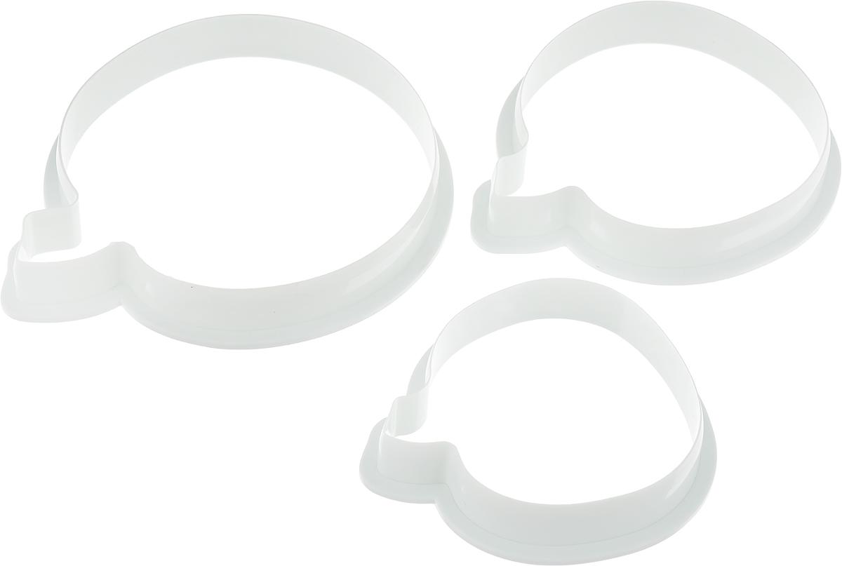 Набор форм для печенья Доляна Фрукт, цвет: белый, 3 шт1004322_белыйНабор форм для печенья Доляна Фрукт, цвет: белый, 3 шт