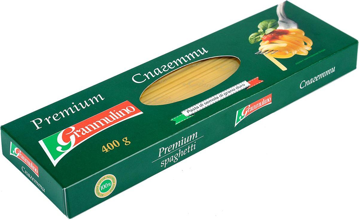 Granmulino-Premium спагетти, 400 г макаронные изделия molisana ракушки рифленые гигант 500г