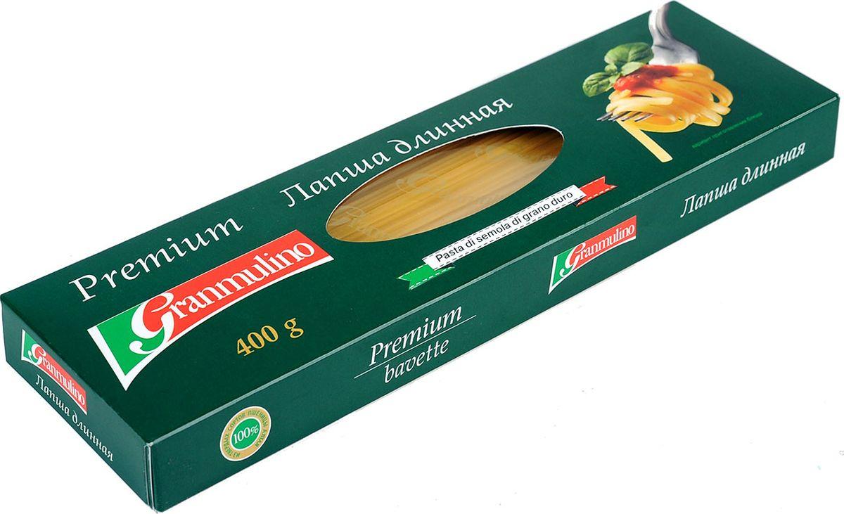 Granmulino-Premium лапша узкая длинная, 400 г granmulino перья 54 450 г