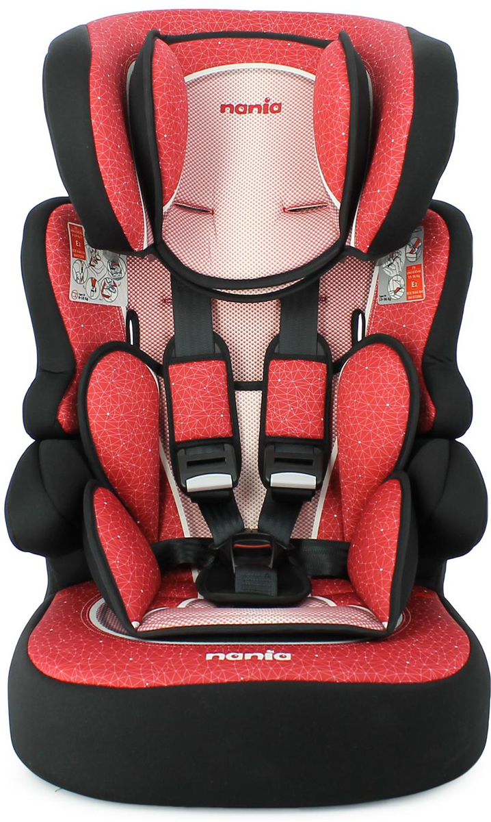 Nania Автокресло Beline SP FST Skyline цвет красный от 9 до 36 кг, Team Tex