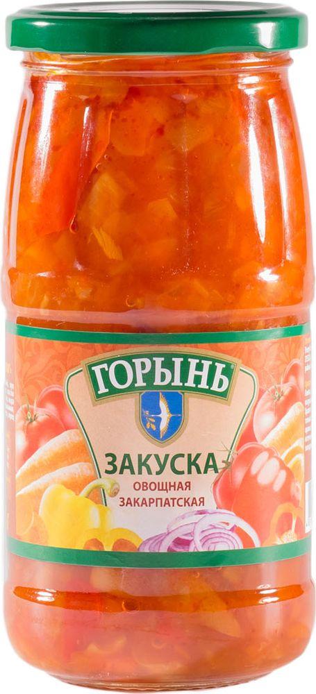 Горынь Закуска овощная закарпатская, 450 г националь чечевица красная 450 г