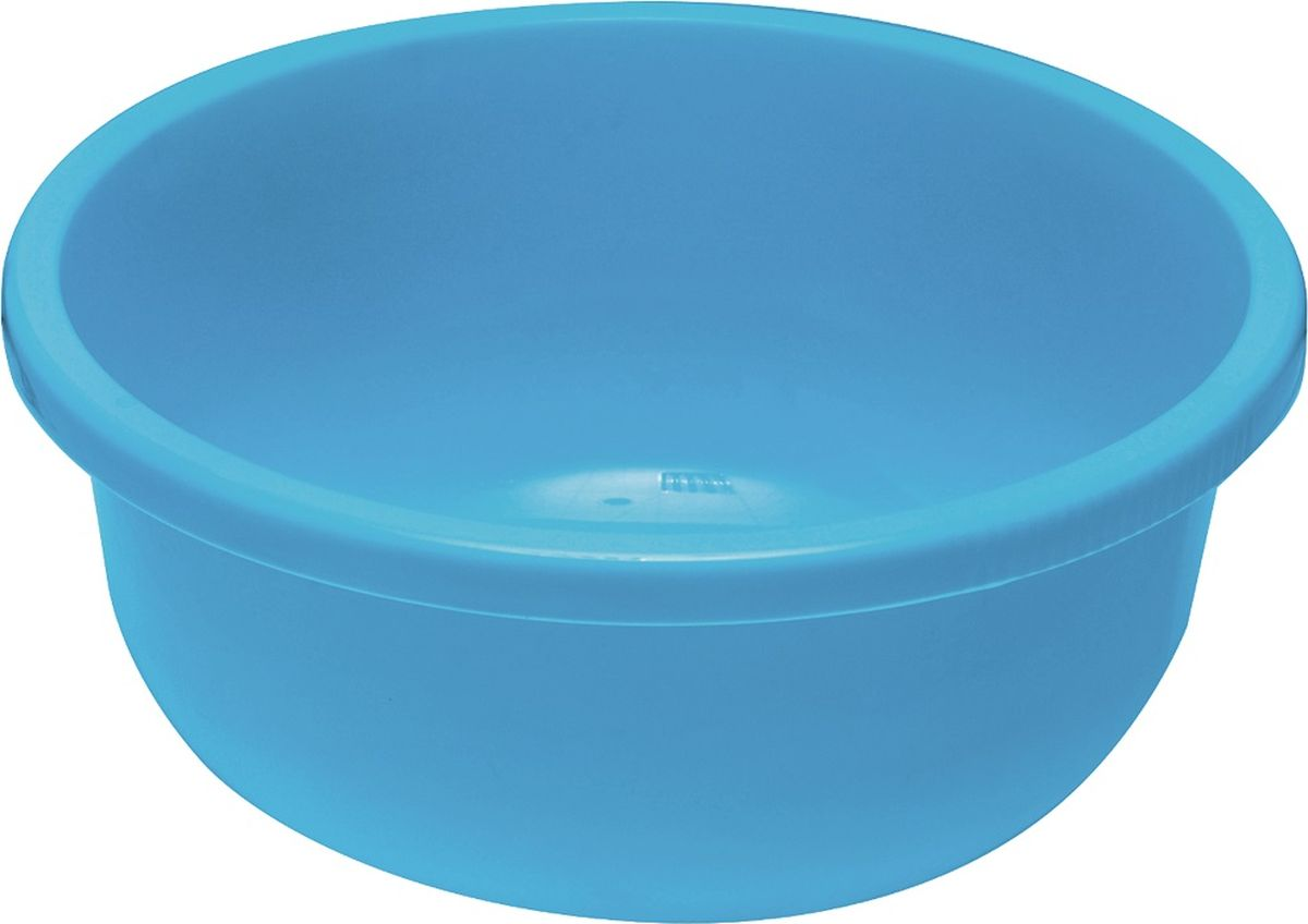 Миска Plast team, цвет: голубой, круглая, 4 лPT1149ГОЛ-5Практичная миска большого объема. Удобна для замешивания, маринования и приготовлениясалатов. Часть корпуса выполнена с покрытием шагрень, благодаря которому миска не скользитв руках.