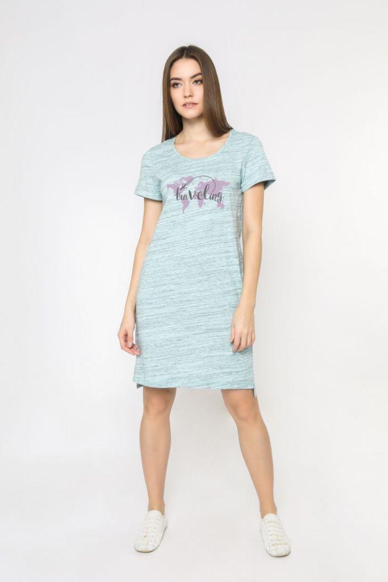 Платье домашнее женское Melado Travel, цвет: светло-зеленый. 8109L-70004.1H-621.443. Размер 54 платье домашнее melado вивьен цвет бежевый ml2170 01 размер 48