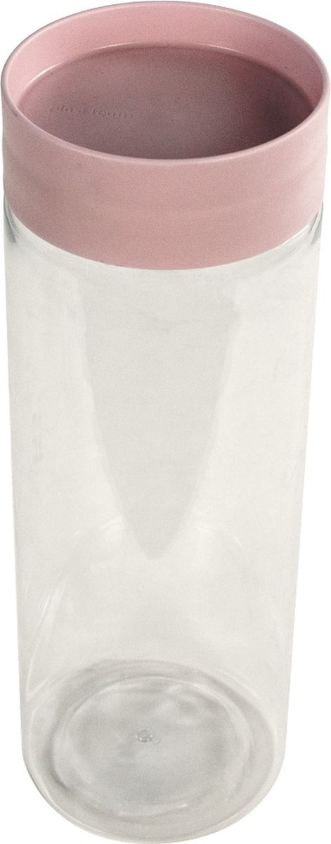 Банка для сыпучих продуктов Plast Team, цвет: пудровый, 1,5 л контейнер пищевой plast team bico цвет лайм с крышкой 600 мл