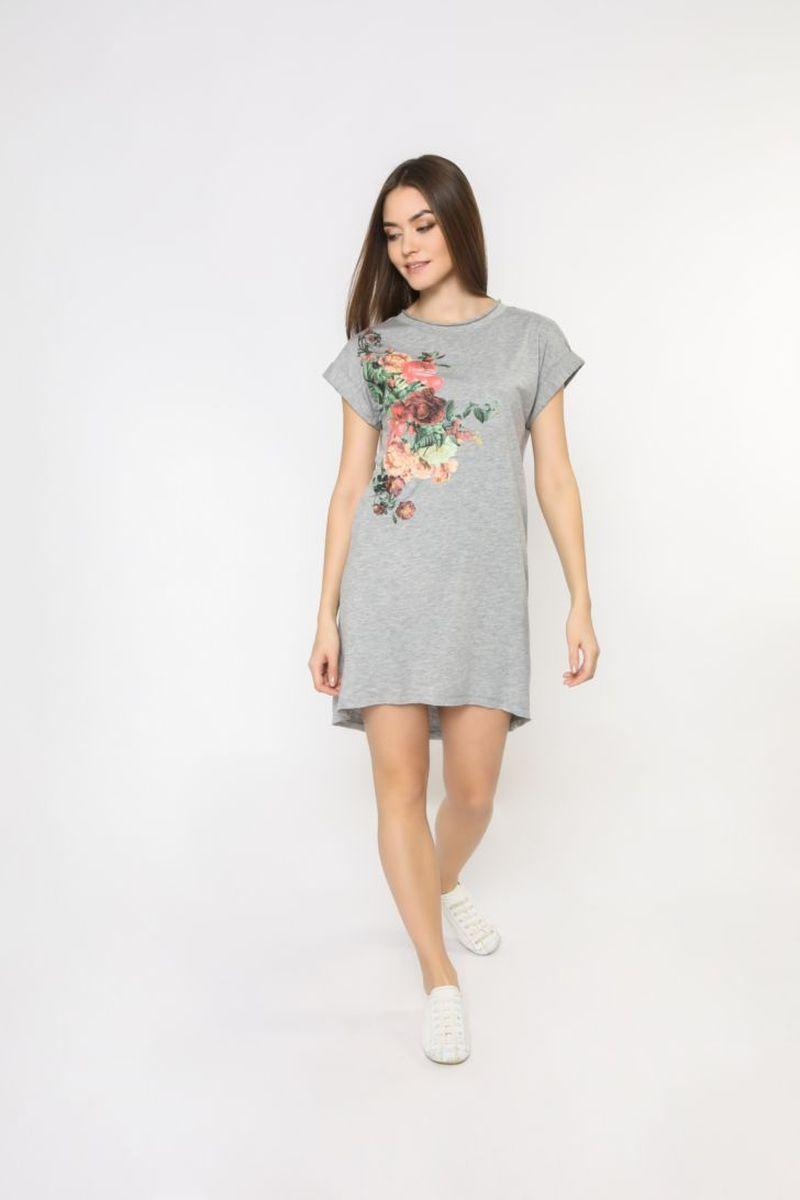 Платье домашнее Melado База, цвет: серый. 70003.3H. Размер 52 платье домашнее melado вивьен цвет бежевый ml2170 01 размер 48
