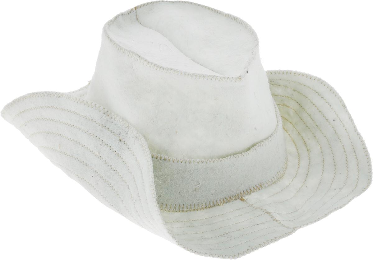 Шапка для бани и сауны Ecology Sauna Ковбой, цвет: белый всё для бани и сауны