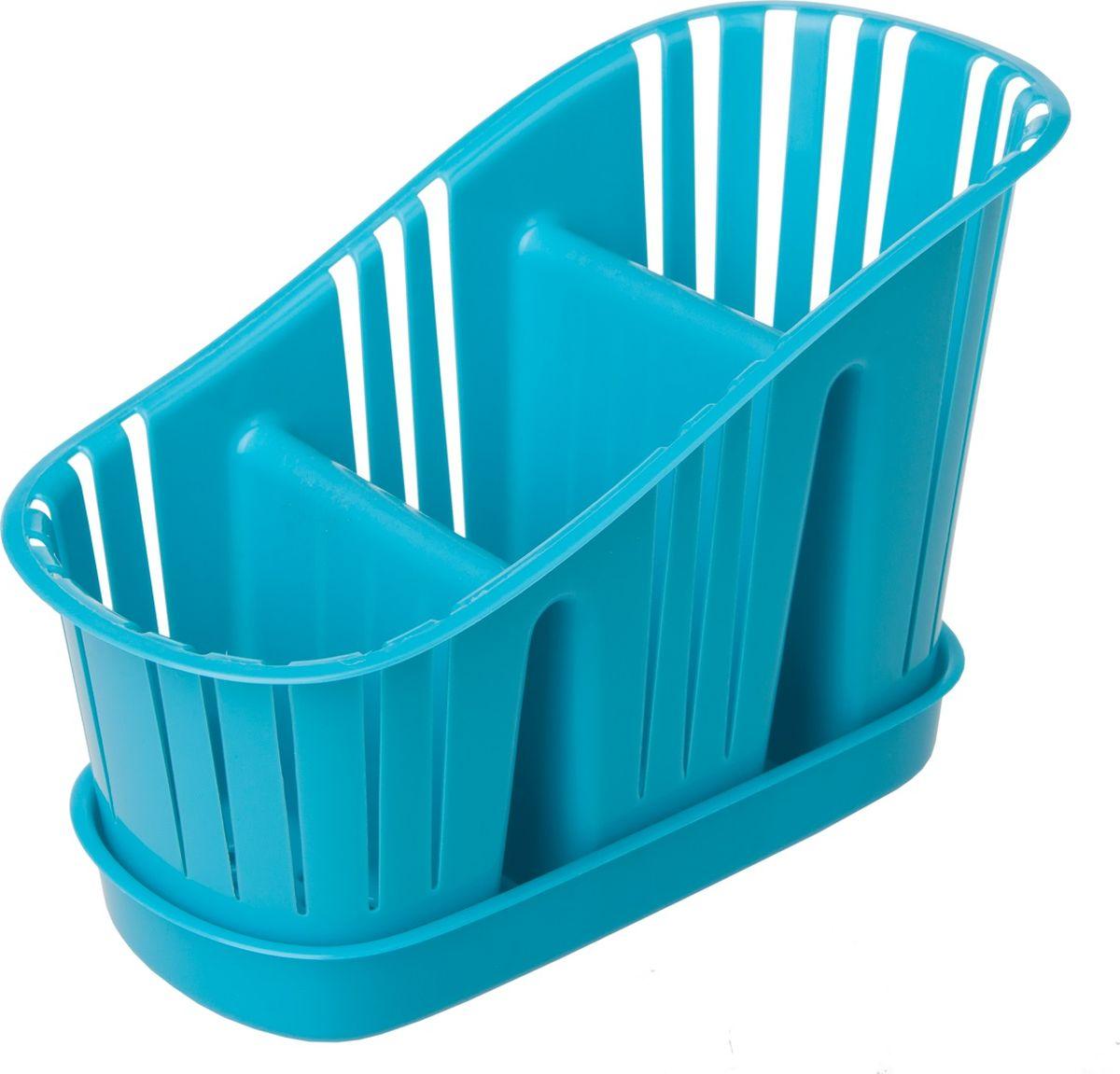 Сушилка для столовых приборов Plast Team, 3-секционная, с поддоном, цвет: голубойPT9091ГОЛ-15Компактная сушилка для столовых приборов с поддоном для слива воды.
