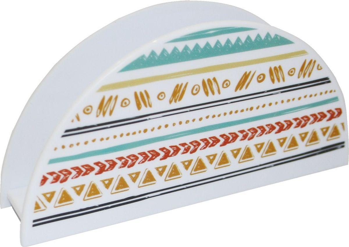 Салфетница Plast team Miata, 14,4 х 3 х 7,2 смPT1030-MT-36Стильная подставка для салфеток, декорированная с помощью технологии вплавляемойэтикетки – интересное решение для сервировки стола. Этикетка IML устойчива к стиранию.