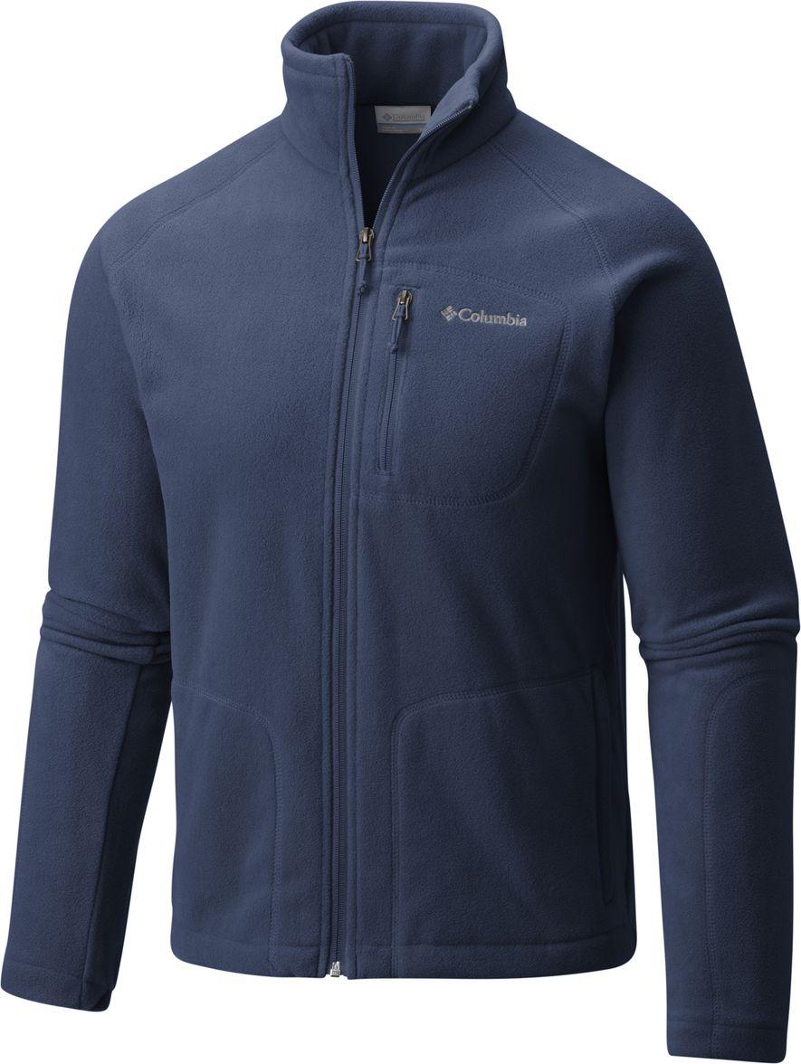 Купить Толстовка мужская Columbia Fast Trek II Full Zip Fleece, цвет: темно-синий. 1420421-470. Размер XL (52/54)
