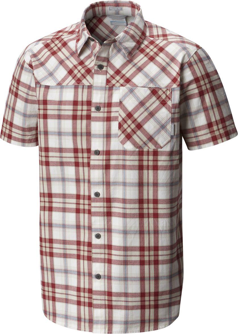 Рубашка мужская Columbia Thompson Hill YD SS Shirt, цвет: красный. 1772031-611. Размер S (44/46)