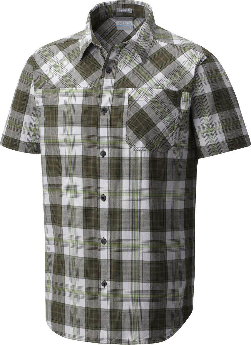 Рубашка мужская Columbia Thompson Hill YD SS Shirt, цвет: зеленый. 1772031-010. Размер XL (52/54) чемодан columbia lu9381 010 2399