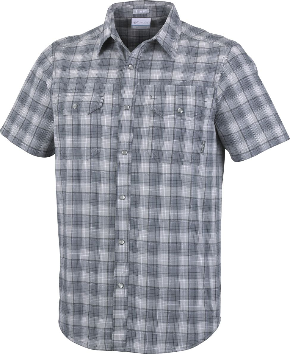 Рубашка мужская Columbia Leadville Ridge YD SS Shirt, цвет: серый. 1772125-039. Размер M (46/48) рубашка женская kepler shirt w цвет зеленый 1401723 7734 размер m 46 48