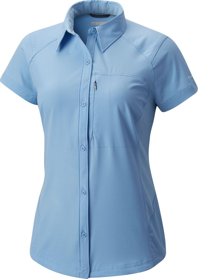 Рубашка женская Columbia Silver Ridge SS Shirt, цвет: голубой. 1443251-989. Размер XS (42) шорты женские columbia silver ridge pull on short w shorts цвет бежевый 1710641 221 размер xs 42