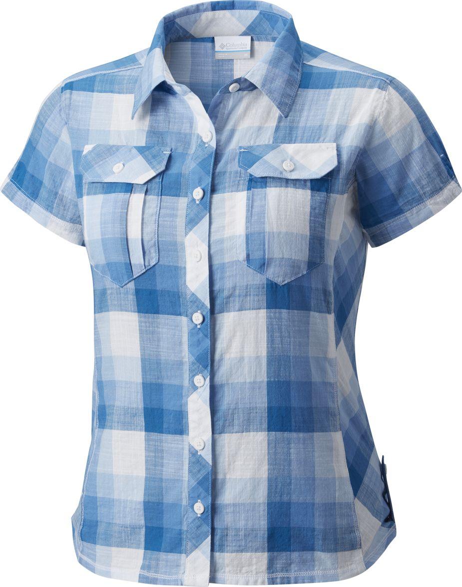 Рубашка женская Columbia Camp Henry SS Shirt, цвет: синий. 1450311-486. Размер S (44)1450311-486Стильная женская рубашка Columbia Camp Henry SS Shirt, изготовленная из натурального хлопка, обладает высокой теплопроводностью, воздухопроницаемостью и гигроскопичностью, не сковывает движения и позволяет коже дышать, обеспечивая наибольший комфорт при носке. Рубашка с короткими рукавами, закругленным низом и отложным воротничком застегивается на пуговицы по всей длине. На груди расположены два накладных кармана, закрывающиеся на пуговицу. Приталенный силуэт подчеркнет вашу женственность и элегантность. Такую модную рубашку вы сможете комбинировать с любыми элементами гардероба и будете чувствовать себя в ней уютно и комфортно.