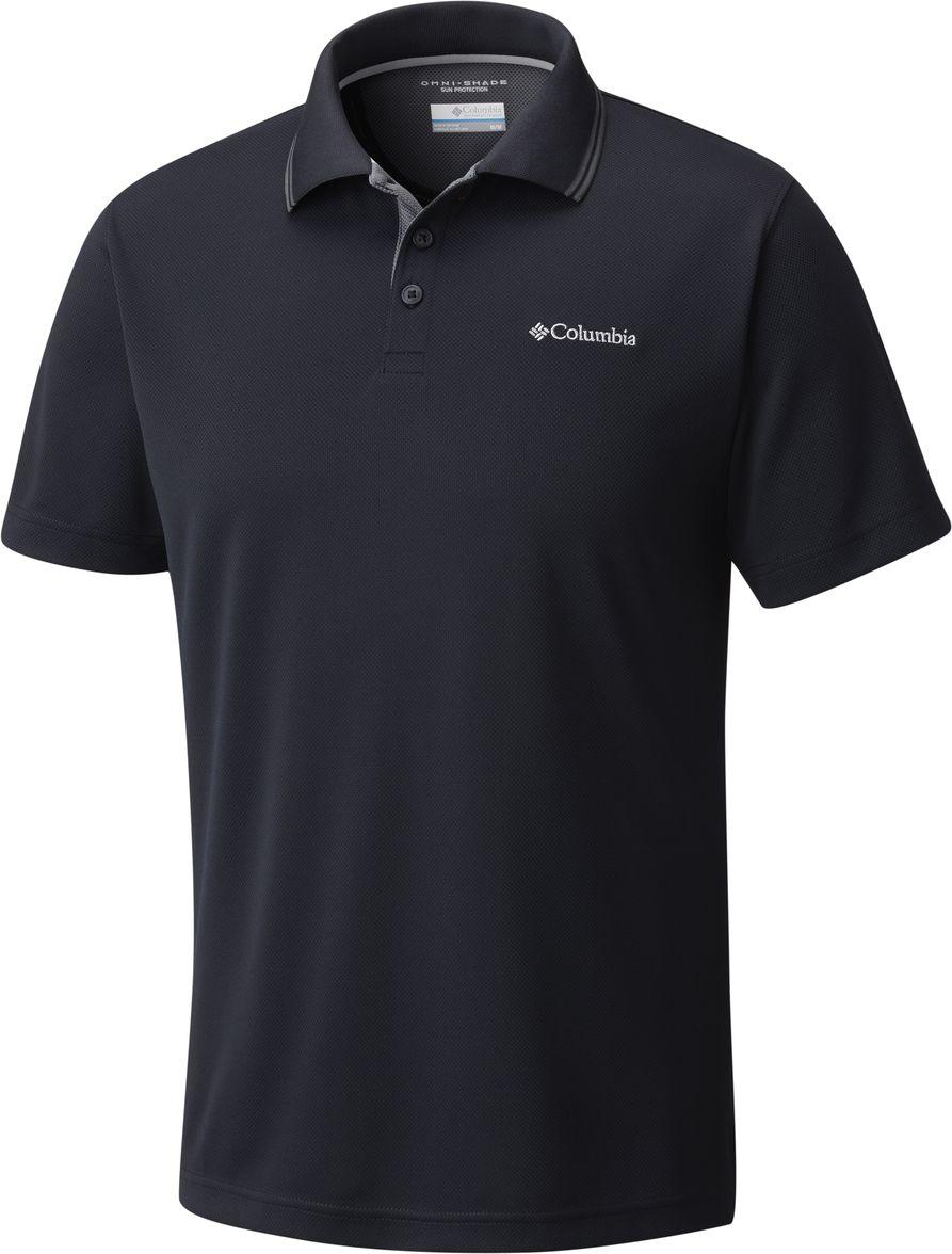 Поло мужское Columbia Utilizer Polo, цвет: черный. 1772051-010. Размер XL (52/54) чемодан columbia lu9381 010 2399