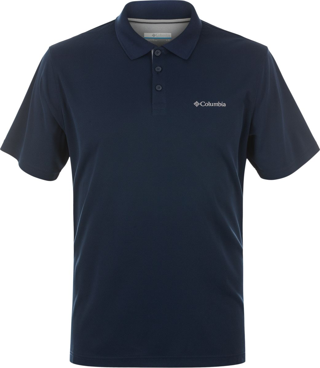 Поло мужское Columbia Utilizer Polo, цвет: темно-синий. 1772051-464. Размер S (44/46) футболка поло columbia