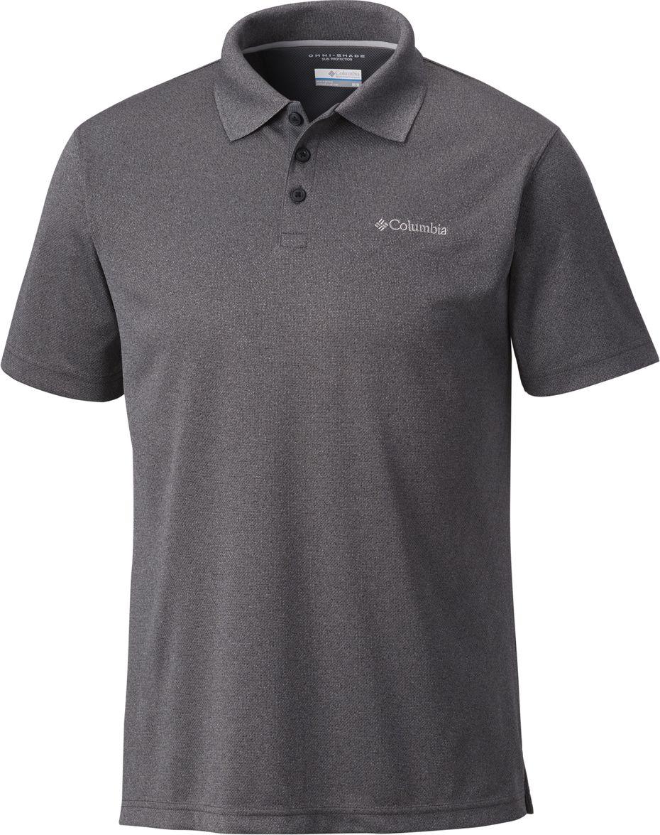 Поло мужское Columbia Utilizer Polo, цвет: серый. 1772051-011. Размер XL (52/54) футболка поло columbia