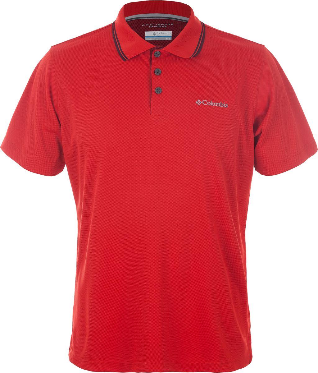 Поло мужское Columbia Utilizer Polo, цвет: красный. 1772051-696. Размер XXL (56/58) футболка поло columbia