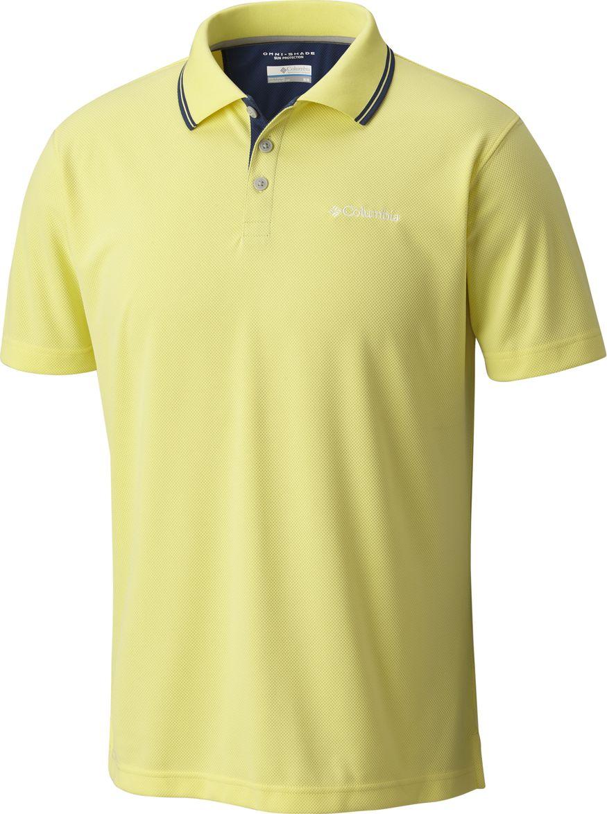 Поло мужское Columbia Utilizer Polo, цвет: желтый. 1772051-731. Размер XXL (56/58) футболка поло columbia